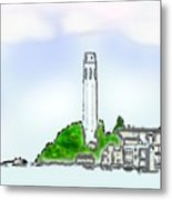 San Francisco 1986 Telegraph Hill The Museum Zazzle Gifts Watercolor 1 Jgibney 2010 Metal Print