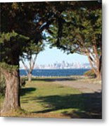 San Francisco Framed By Trees Metal Print