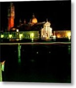 San Georgio Maggiore In Venice At Night Metal Print