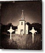 San Patricio Church IIi Sepia Metal Print