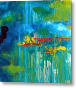 Sanctuary Abstract Painting Metal Print
