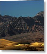 Sand Dunes - Death Valley's Gold Metal Print