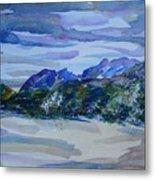 Sandia Mountains Metal Print