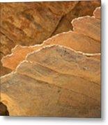 Sandstone Fins Metal Print
