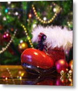 Santa-claus Boot Metal Print