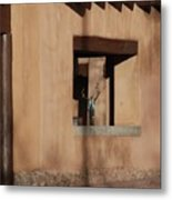 Santa Fe Adobe Window Metal Print