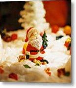 Santa In Town Metal Print