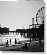 Santa Monica Pier Metal Print by John Gusky