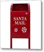 Santa Red Mail Box Metal Print