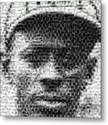 Satchel Paige Kc Monarchs African American Mosaic Metal Print by Paul Van Scott