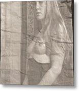 Satie Seeking Antique Style Metal Print