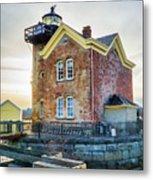 Saugerties Lighthouse Metal Print by Nancy De Flon
