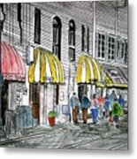 Savannah Georgia River Street 2 Painting Art Metal Print