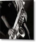 Sax Man 1 Metal Print