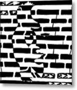Saxophone Player Or Woman Maze Metal Print