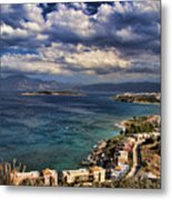 Scenic View Of Eastern Crete Metal Print by David Smith