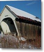 Schoolhouse Covered Bridge Metal Print