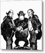 Scopes Trial Cartoon 1925 Metal Print