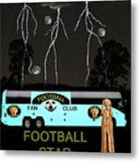 Scream Football Star Metal Print by Eric Kempson
