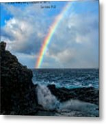 Scripture And Picture Genesis 9 16 Metal Print