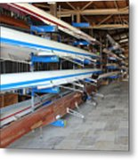 Sculling Shells On Racks Metal Print