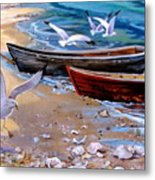 Sea Gull Cove Metal Print