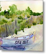 Sea Isle Rescue Boat Metal Print