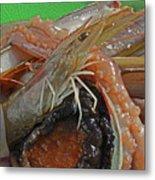 Seafood Metal Print