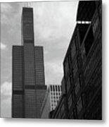 Sears Tower B-w Metal Print