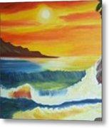 Seashore And Sunrise Metal Print