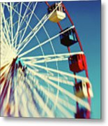 Seaside Ferris Wheel Metal Print