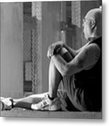 Seated In The Darkness Metal Print