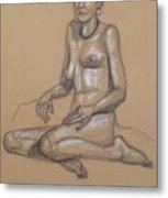 Seated Nude 7 Metal Print