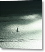 Seattle Sail Boat Metal Print