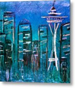 Seattle Skyline 2 Metal Print by Melisa Meyers