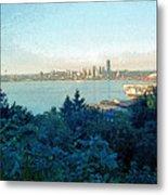 Seattle Skyline 2 Metal Print