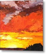 Sedona Sunset 2 Metal Print by Sandy Tracey