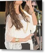 Selena Gomez At A Public Appearance Metal Print by Everett