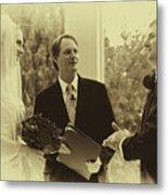 Sepia 2 Wedding Couple Example Metal Print