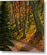 September Road Metal Print