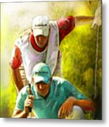 Sergio Garcia In The Madrid Masters Metal Print