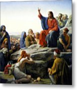 Sermon On The Mount Metal Print