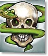 Serpent N Skull Metal Print