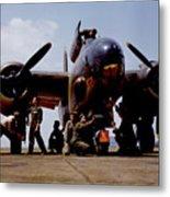 Servicing An A-20 Bomber Langley Field Va Metal Print