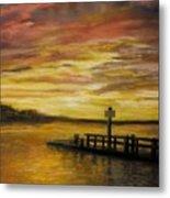 Sesuit Harbor At Sunset Metal Print by Jack Skinner
