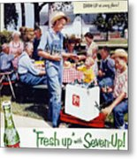 Seven-up Soda Ad, 1954 Metal Print by Granger