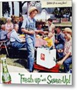 Seven-up Soda Ad, 1954 Metal Print