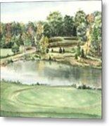 Seventeen Green The Trails Golf Course Metal Print by Lane Owen