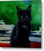 Shadow The Cat Metal Print
