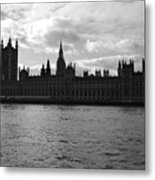 Shadows Of Parliament Metal Print